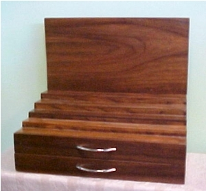 Five-Step Wooden Multi-Product Display