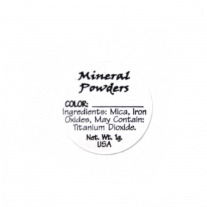 Mineral Powder (versatile) Ingredient Label