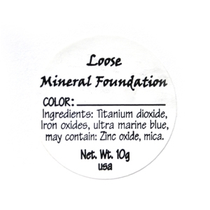 Loose Mineral Foundation Ingredient Label