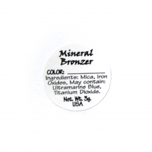 Bronzer Ingredient Label