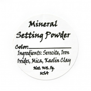 Setting Powder Ingredient Label